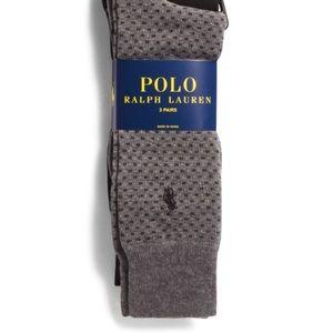Polo Ralph Lauren 3 pack Square Dots Dress Socks
